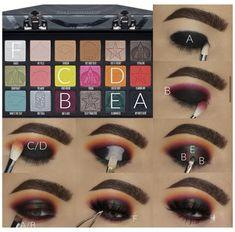 Makeup Eye Looks, Eye Makeup Steps, Natural Eye Makeup, Crazy Makeup, Face Makeup, Star Makeup, Clown Makeup, Halloween Makeup, Halloween Eyeshadow