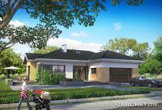 Projekt domu Aurelia Rex - atrakcyjny i funkcjonalny dom parterowy, z garażem na dwa samochody