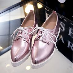 ca12d93bbd0b shoes flat feet women Picture - More Detailed Picture about HEE GRAND  Patent Leather Oxford Shoes Woman Bling Lace Up Platform Flats Pointed Toe  Oxfords ...