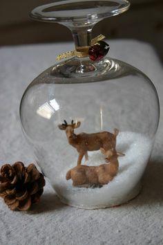 Stemware Snow Globes