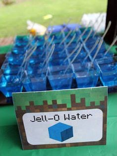 Minecraft Party Ideas - Minecraft Party Ideas Are you planning to host a kids' party and looking for inspiration? How about a Minecraft themed party? I've pulled together lots of great ideas to help you plan the perfect event. Let's Party! 9th Birthday Parties, Minecraft Birthday Party, Birthday Fun, Birthday Ideas, Sons Birthday, Minecraft Food, Minecraft Party Games, Minecraft Crafts, Minecraft Skins