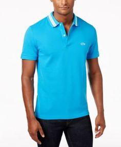 LACOSTE Lacoste Men'S Striped Collar Cotton Polo. #lacoste #cloth # polos
