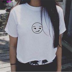 Japanese Harajuku Style Fuck Off Sister Nirvana Emoji Music Doll Hit TV Show Arctic Monkeys Letter Print T-shirt Promotion