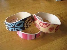 Camp craft!!  Popsicle stick bracelets