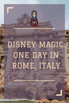 Continue reading my story about my Mediterranean Cruise on the Disney Magic! Read everything we did with only one day in Rome. Bones Church, Trevi Fountain, Pasta, Chianti, and the Colosseum is only...#plaidshirtyogapants #rome #romeinaday