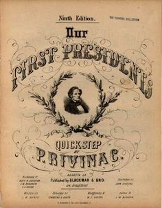 Sheet Music - Our first president's quickstep