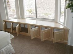 Image result for corner closets with bench window
