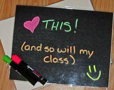 Classroom DIY: DIY Two-Sided Dry Erase Boards