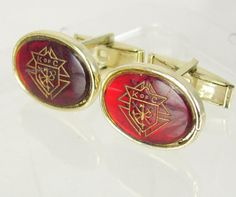 Vintage red knights of columbus cufflinks by NeatstuffAntiques, $55.00