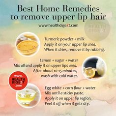 Best Home Remedies To Remove Upper Lip Hair