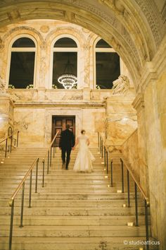 The BPL is a Boston wedding venue. The large central staircase is one of the Library's most stunning features. #newenglandweddingvenues
