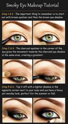 DIY Eye Makeup- Smokey Eyes!   (source:beauty-tutorials.com) STUDIO KAIRI www.studiokairi.com