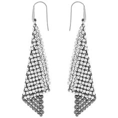 Fit Pierced Earrings, Grey, Rhodium plating The Fit pierced earrings will add a feel of fluidity to your look. This pair of rhodium-plated pierced earrings will turn heads with the sparkle of the Silver Shade Crystal Mesh triangle. Bold yet feminine, thes Crystal Earrings, Clip On Earrings, Women's Earrings, Pierced Earrings, Ear Piercings, Swarovski Crystals, Plating, Jewelry Accessories, Triangle