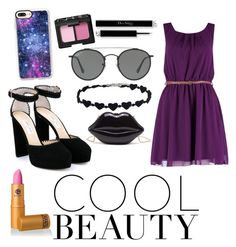 """""""cool beauty"""" by cjflynn on Polyvore featuring Boohoo, Jimmy Choo, Lipstick Queen, NARS Cosmetics, Casetify and Ray-Ban"""