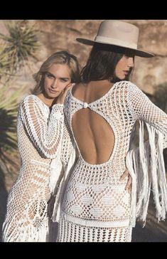 Ibiza Dress, Bohemian Style Dresses, Bohemian Fashion, Wedding Cookies, Hippie Boho, Boho Wedding, Crochet Top, White Dress, Bride
