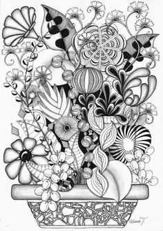 wonderful zentangle