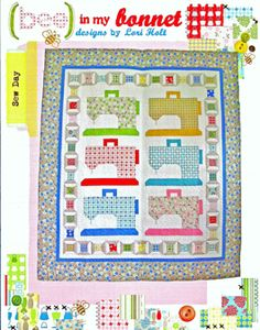 Pattern - Sew Day by Bee in my Bonnet-Sew Day Quilt Pattern #BMB225 bee bonnet lori holt sewing machine. Cute machines and spools would be cute in a sewing room