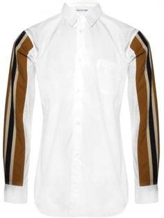 Comme Des Garcons SHIRT Comme des Garçons SHIRT Contrast Stripe Sleeve Button-Down Shirt