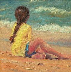 Transfixed (c) Diane DuBois Mullaly Oil ~ 3.5 x 3.5