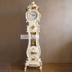 Lai Sheng Deluxe Continental retro clocks grandfather clock pendulum clock creative fashion living room decorated villa Zhongshi