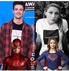 Baes that match! Superhero Shows, Superhero Memes, Arrow Tv Series, Flash Barry Allen, Kara Danvers Supergirl, The Flash Grant Gustin, Cw Dc, All Superheroes, Supergirl And Flash