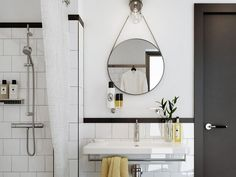 We Can't Get Enough of These Classic Black & White Bathrooms