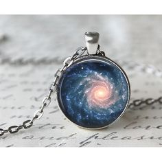 This 24 inch antique silver necklace features a 1 inch pendant with a beautiful galaxy high quality print. The pendant has been sealed with a magnifying glass dome.<br /> <br /> All of my necklaces come packaged in a kraft cotton filled jewelry box that is held in a hand stamped muslin bag and ready to gift!<br /> <br /> Note: These necklaces are water resistant and won't be damaged from a simple splash of water, however; submerging them in water will damage them. Please take off before…