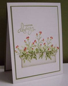 Stamping with Loll: Spring Flower Box.  Another use for the Memory Box/Poppy Stamps flower box.
