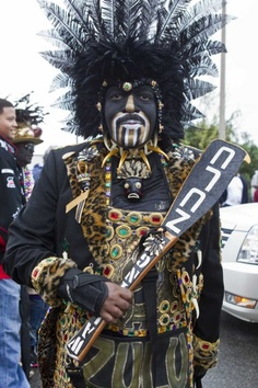 Zulu.  Mardi Gras in NOLA.  Photo by Skip Bolen.