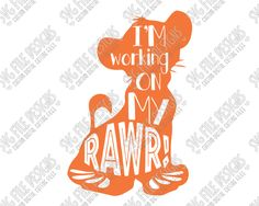 Simba Silhouette Disney Word Art Cut File Set in SVG, EPS, DXF, JPEG, and PNG