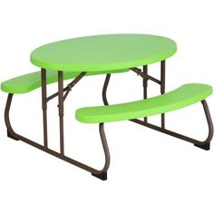 Looking for Lifetime 60132 Children's Oval Picnic Table, Lime Green ? Check out our picks for the Lifetime 60132 Children's Oval Picnic Table, Lime Green from the popular stores - all in one. Metal Dining Table, Metal Side Table, Patio Table, Outdoor Dining, Outdoor Tables, Patio Dining, Folding Picnic Table, Kids Picnic Table, Kid Table