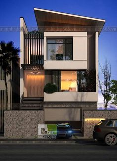 Ideas For Design House Front Modern Architecture Modern Villa Design, Modern Architecture Design, Facade Design, House Front Design, Small House Design, Style At Home, Bungalow Haus Design, Er6n, Small Modern Home