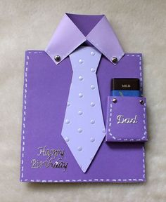 Handmade Dad Happy Birthday Card, with a miniature chocolate bar in the pocket for an added treat - Folksy