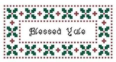 Blessed Yule Counted Cross Stitch Patterns by crochetcronesdesigns, $3.00