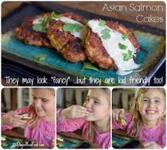 Today I am sharing Asian-inspired salmon cakes that can be made into large cakes for a main dish or small cakes for an appetizer to share with friends.
