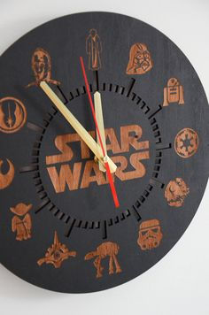 Star Wars Gift Wall Clock Wood Darth Vader Custom Engraved Housewarming Home decor Hanging Round Gift for Boyfriend Brother Husband ----------------------------------------------------------------------------------------------- SIGN UP to receive our newsletter and get an 10% OFF your