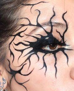 Makeup Eye Looks, Eye Makeup Art, Pretty Makeup, Punk Makeup, Grunge Makeup, Helloween Make Up, Alternative Makeup, Creative Makeup Looks, Cosplay Makeup
