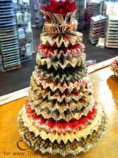 The Dies Have It: Twelve Rosette Layered Christmas Tree