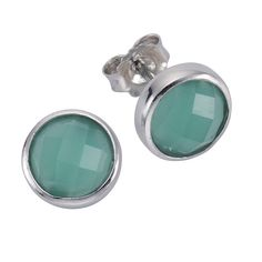 Ohrringe ohrstecker jade grun