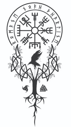 Tatto viking Idéia de tattoYou can find Celtic tattoos and more on our website. Viking Rune Tattoo, Viking Tattoo Sleeve, Norse Tattoo, Celtic Tattoos, Sleeve Tattoos, Viking Compass Tattoo, Yggdrasil Tattoo, Viking Tattoo Design, Viking Symbols
