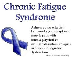 CFS / chronic fatigue syndrome ...it's much worse than most people think