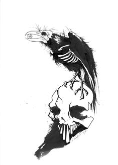 Gris Grimly Crow Tattoo… …Yes please!