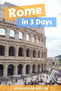 Ok, some people will disagree with me saying that to really visit Rome, you would need 5 days, but being honest with you guys,...