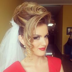 Beautiful bridal 'do