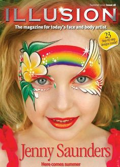 Illusion tropical face paint .. Jenny Saunders