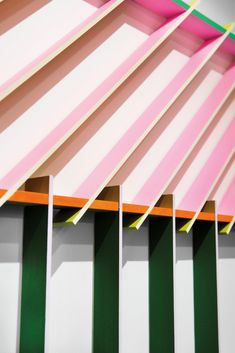 a tree house grows in brooklyn #SOdomino #yellow #pink #line #awning