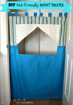 DIY Kid-Friendly Puppet Theater l The Princess & He Cowboys
