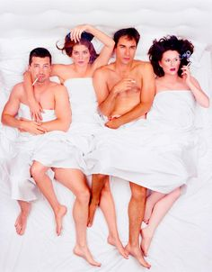 Will & Grace.I don't know what's up with the cigarettes (ew).but still a great photoshoot of one of my fav. tv shows. Anastasia Beaverhausen, Call And Response, Fantastic Show, Will And Grace, Karen Walker, Music Tv, Celebs, Celebrities, Movies And Tv Shows