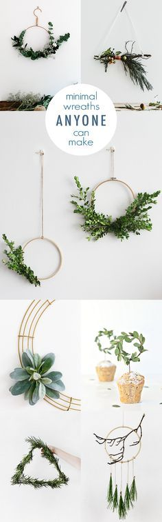 Minimal DIY Wreath Ideas /idlehandsawake/