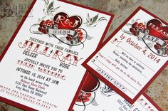 Hey, I found this really awesome Etsy listing at https://www.etsy.com/listing/183134259/new-rockabilly-wedding-invitation-set